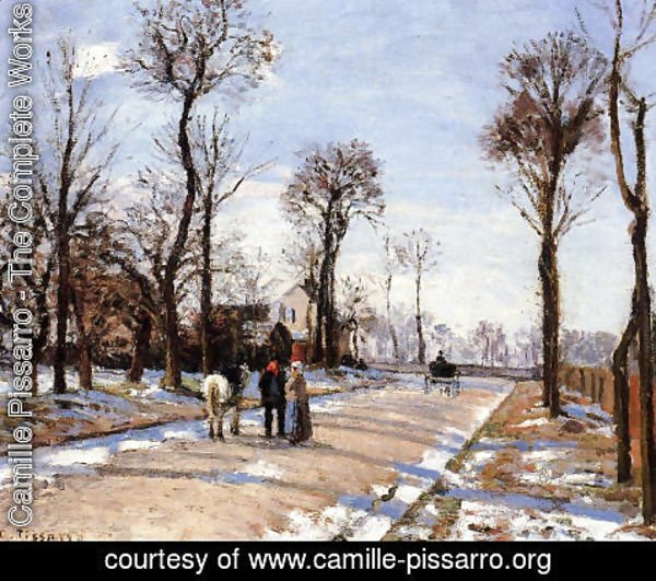 Camille Pissarro - Street: Winter Sunlight and Snow
