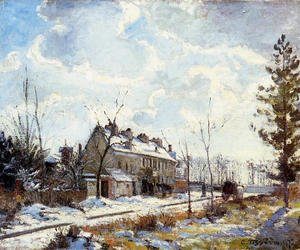 Camille Pissarro - Louveciennes Road: Snow Effect