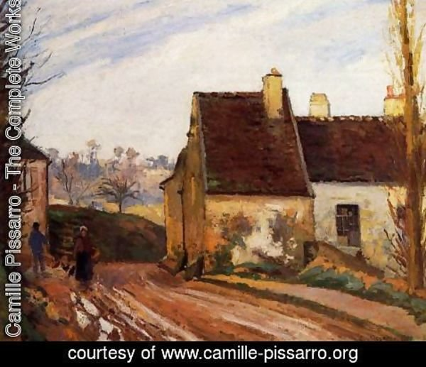 Camille Pissarro - Homes near the Osny