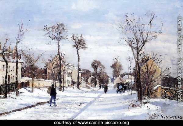 Street in the Snow, Louveciennes