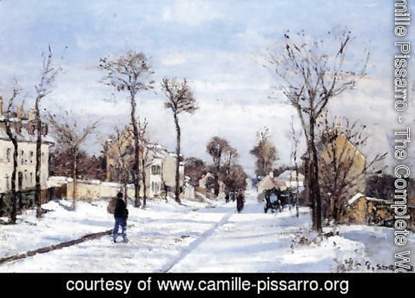 Camille Pissarro - Street in the Snow, Louveciennes