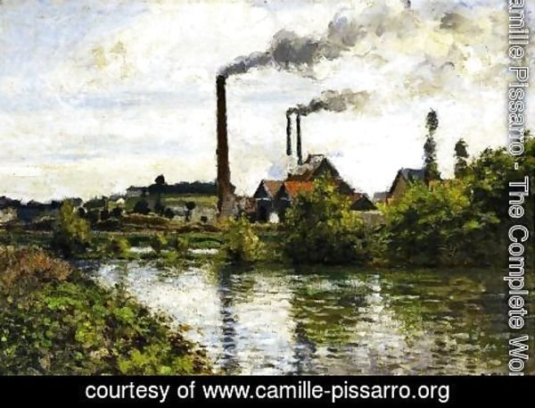 Camille Pissarro - The Factory at Pontoise
