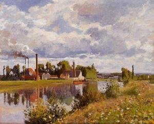 Camille Pissarro - The Oise on the Outskirts of Pontoise