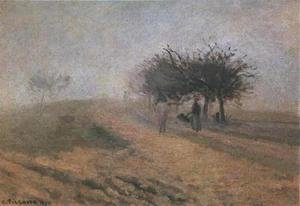 Camille Pissarro - Misty Morning at Creil