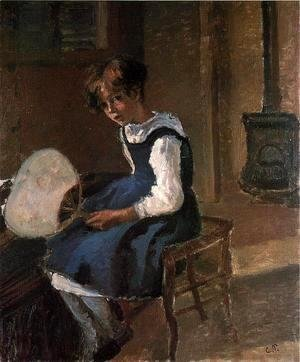 Camille Pissarro - Portrait of Jeanne with a Fan