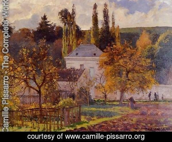 Camille Pissarro - Bourgeois House in l'Hermitage, Pontoise