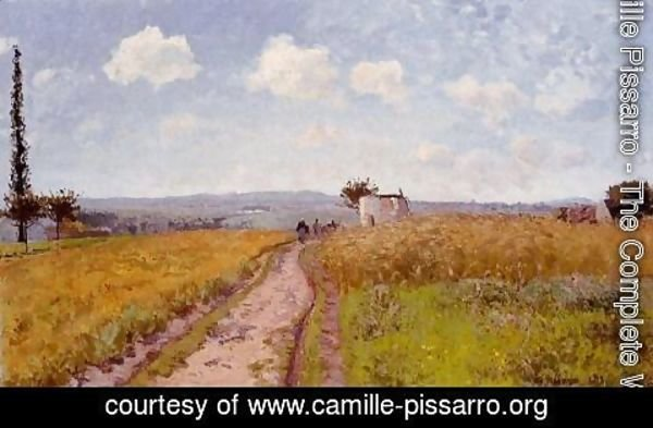 Camille Pissarro - June Morning, View over the Hills over Pontoise
