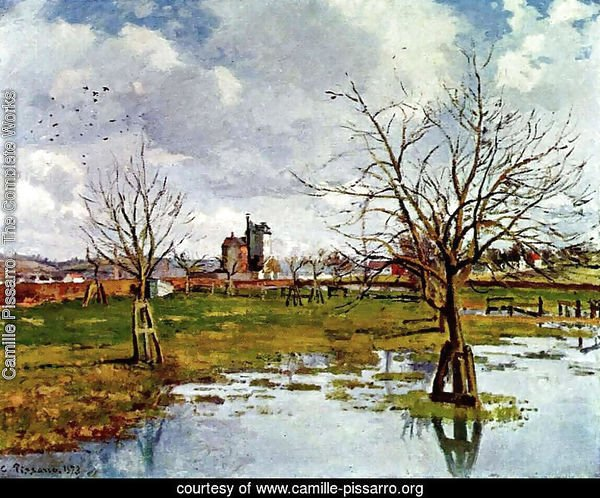 Landscape with Flooded Fields