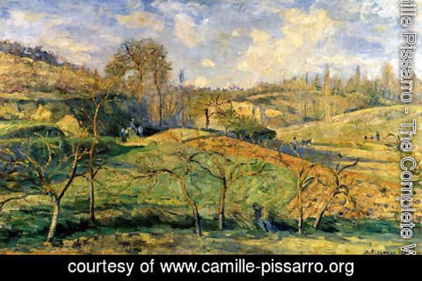 Camille Pissarro - March Sun, Pontoise