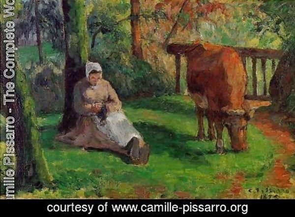 Camille Pissarro - The Cowherd