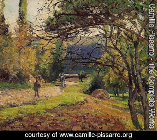 Camille Pissarro - The Little Bridge, Pontoise