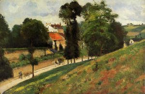 Camille Pissarro - The Saint-Antoine Road at l'Hermitage, Pontoise