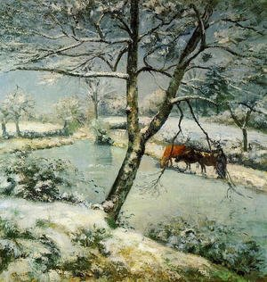 Camille Pissarro - Winter at Montfoucault