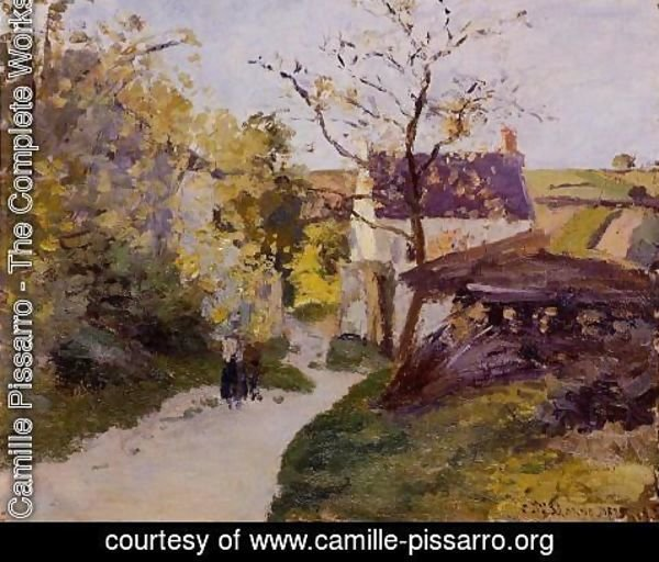 Camille Pissarro - The Large Walnut Tree at l'Hermitage