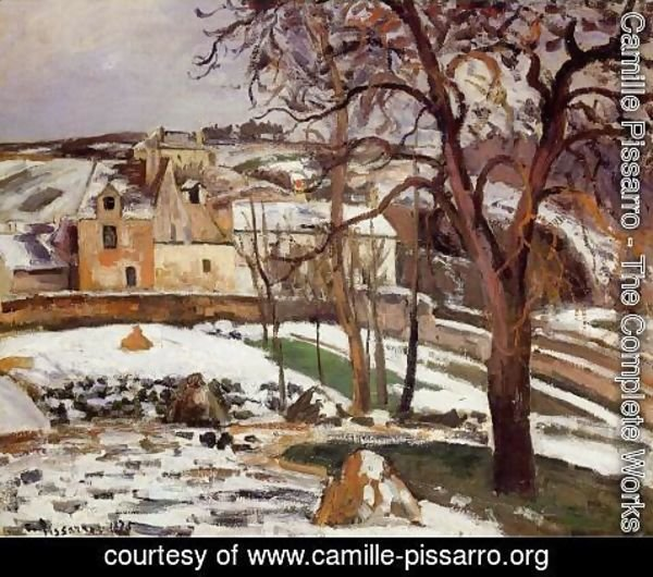 Camille Pissarro - The Effect of Snow at l'Hermitage, Pontoise
