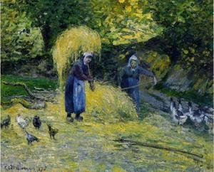 Camille Pissarro - Peasants Carrying Straw, Montfoucault