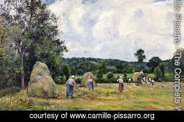 Camille Pissarro - The Harvest at Montfoucault I