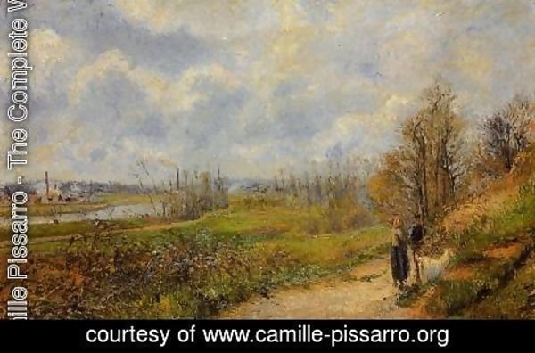 Camille Pissarro - The Pathway at Le Chou, Pontoise