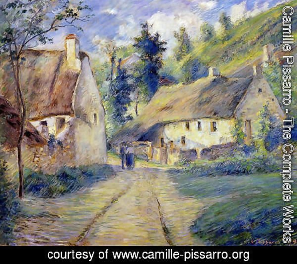 Camille Pissarro - Cottages at Auvers, near Pontoise