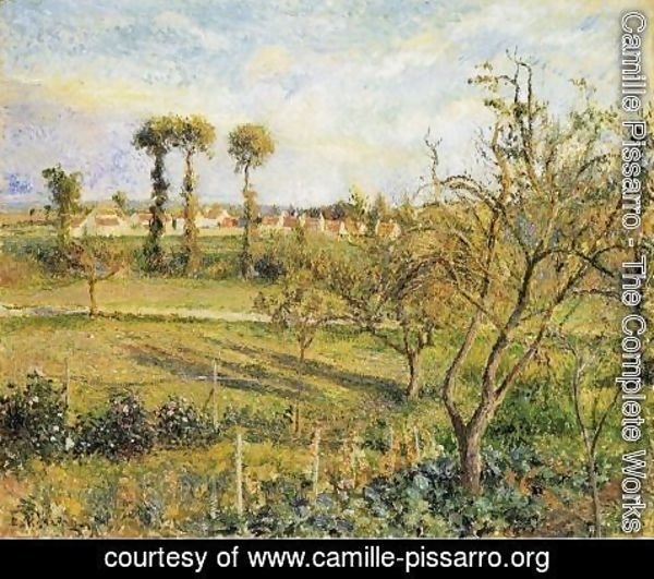 Camille Pissarro - Sunset at Valhermeil, near Pontoise