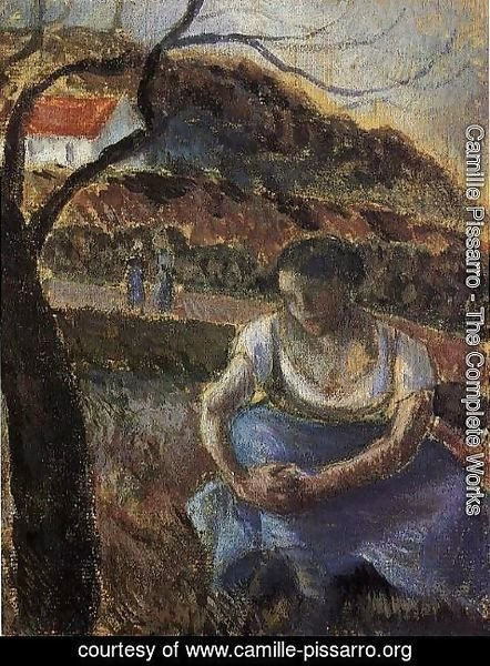 Camille Pissarro - Seated Peasant Woman