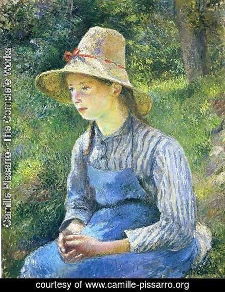 Camille Pissarro - Young Peasant Girl Wearing a Hat