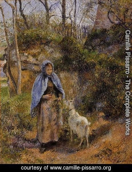 Camille Pissarro - Peasant Woman with a Goat