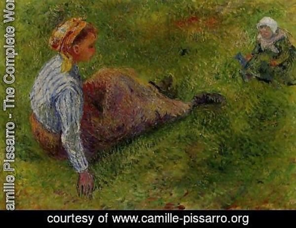 Camille Pissarro - Peasant Sitting with Infant