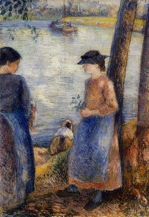 Camille Pissarro - By the Water