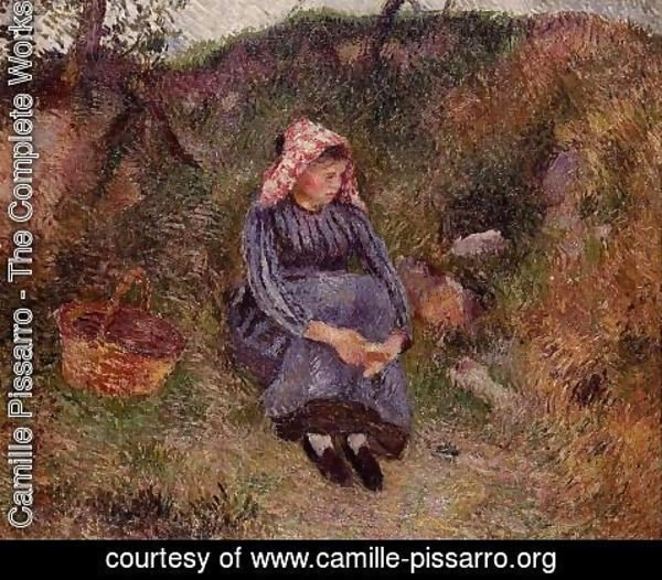 Camille Pissarro - Seated Peasant Woman I