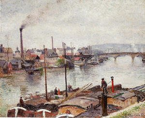 Camille Pissarro - The Port of Rouen I