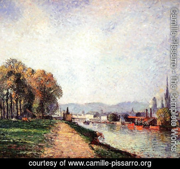 Camille Pissarro - View of Rouen
