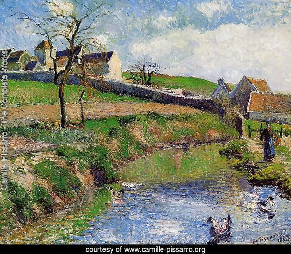 Camille pissarro the complete works view of a farm in osny camille - Osny code postal ...