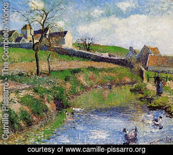 Camille Pissarro - View of a Farm in Osny