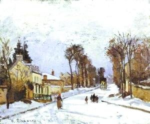 Camille Pissarro - The Road to Versailles at Louveciennes I