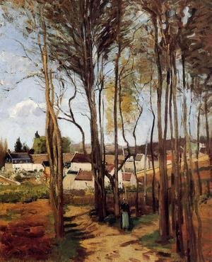 Camille Pissarro - A Village through the Trees