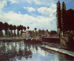 Camille Pissarro - The Lock at Pontoise