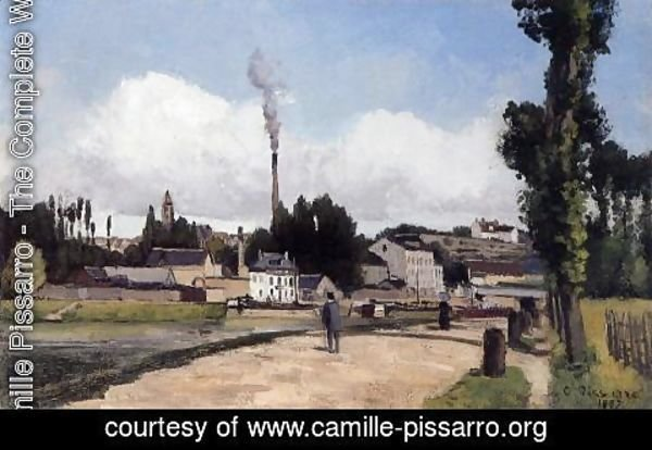 Camille Pissarro - By the Oise at Pontoise