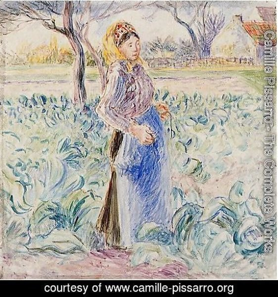 Camille Pissarro - Peasant Woman in a Cabbage Patch