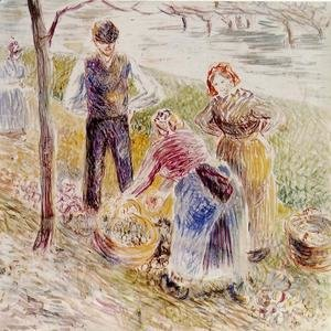Camille Pissarro - Harvesting Potatos