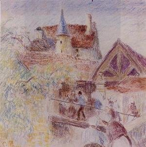 Camille Pissarro - The Farm, Osny