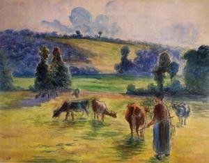 Camille Pissarro - Study for 'Cowherd at Eragny'