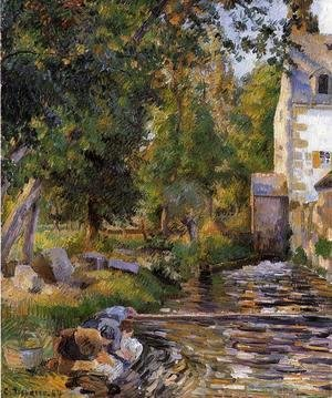 Camille Pissarro - Laundry and Mill at Osny