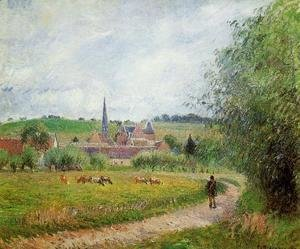 Camille Pissarro - View of Eragny 3