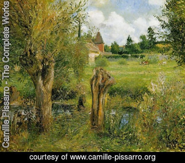 Camille Pissarro - The Banks of the Epte at Eragny