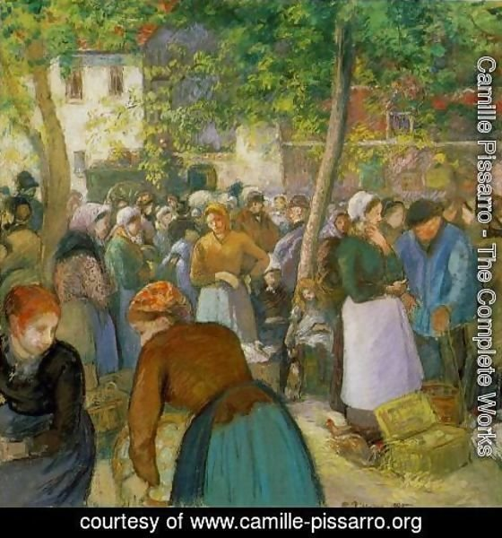 Camille Pissarro - The Poultry Market
