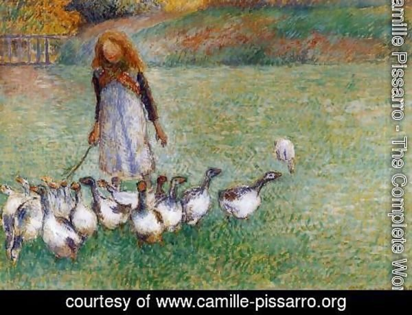 Camille Pissarro - Little Goose Girl