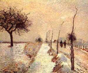 Camille Pissarro - Road at Eragny: Winter