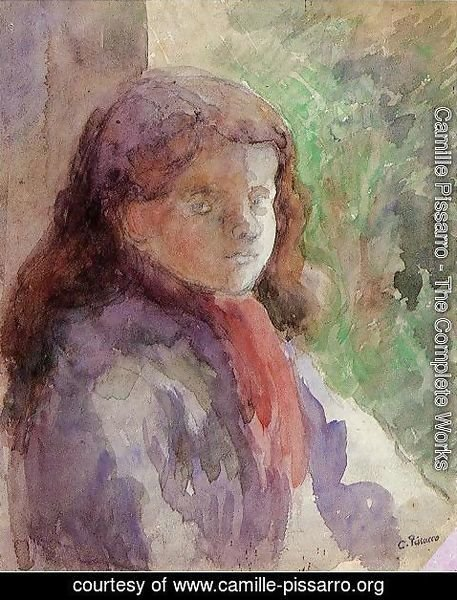 Camille Pissarro - Portrait of the Artist's Son, Ludovic-Rololphe