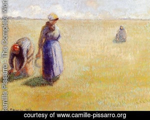 Camille Pissarro - Three Women Cutting Grass